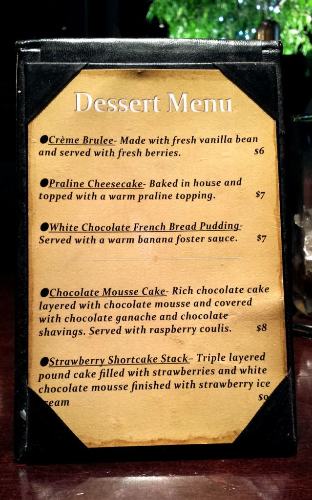 Here are the desserts!