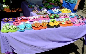 Flip-flops from Creations by Dianne Kaye. Look at all the colors!
